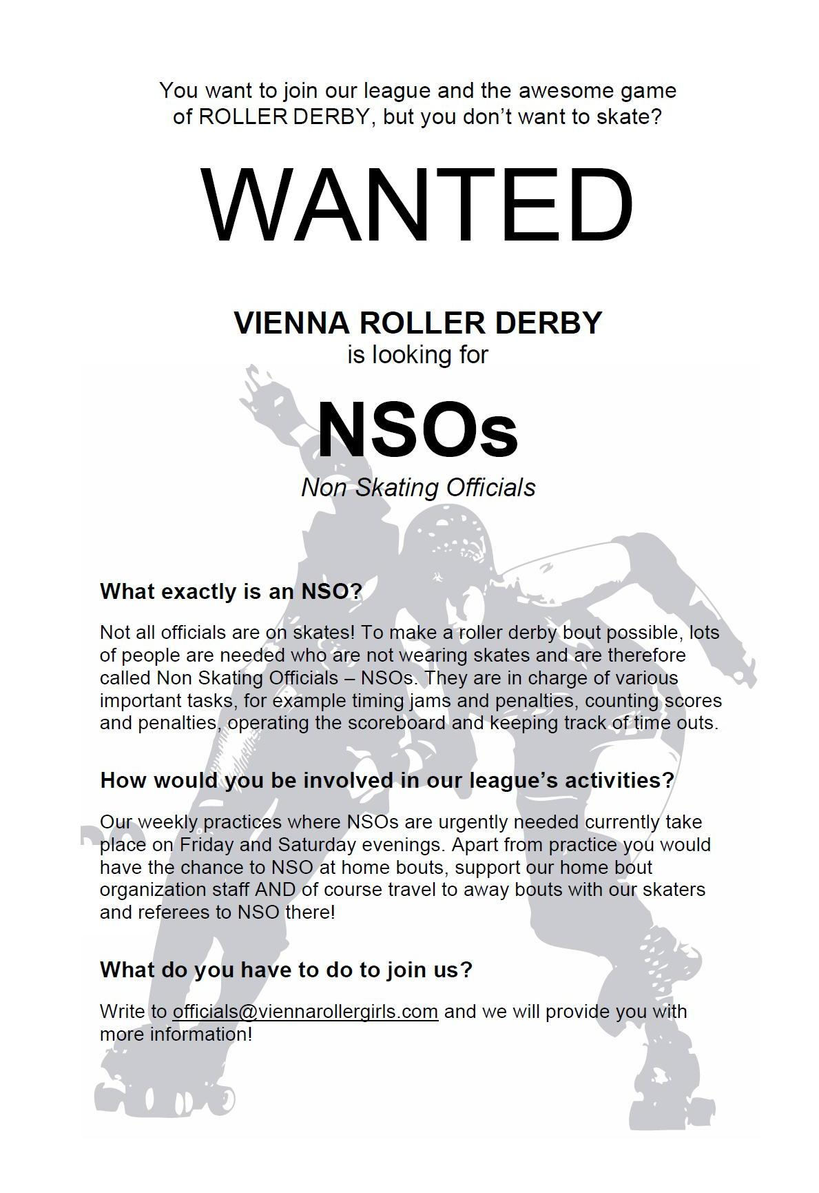 VRD looking for NSOs