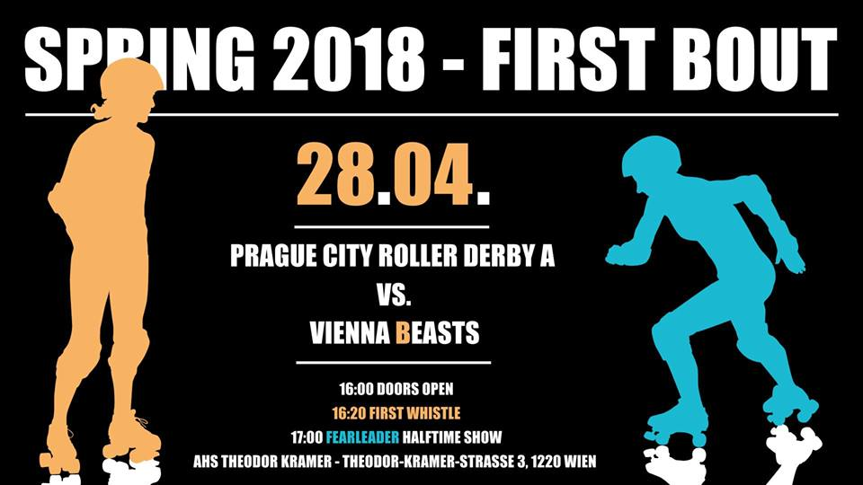 Prague City Roller Derby A vs. Vienna Beasts – April 28th